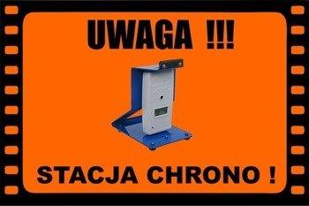 Baner/Tablica Ostrzegawcza Informacyjna Field Sign Banner - Stacja Chrono