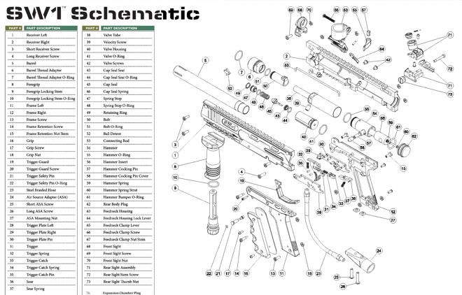 Valken V-TAC SW-1 Part #12 Frame Right